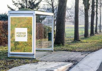 Outdoor Kiosk Advertisement Mockup 8