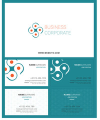 Corporate Logo Identity and Business Card Seamless Pattern Background Vector Illustration