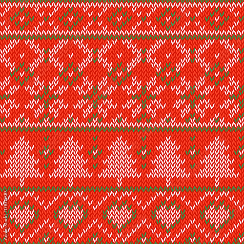 Knitted Christmas Background Seamless Pattern Nordic Background