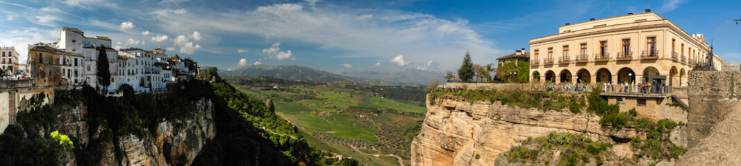 Panoramic view of Ronda in Andalusia, Spain