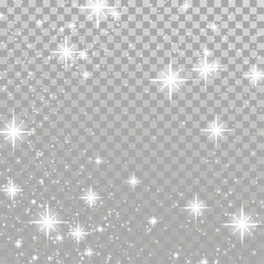 Christmas flash concept silver white light shimmering effect