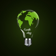 Happy Earth Day - design light bulb