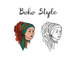 Boho women portrait