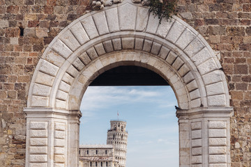 Frame of Leaning Tower of Pisa, Tuscany, Italy
