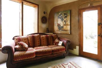 Sofa near doorway