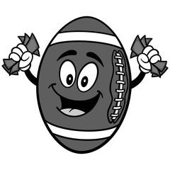 Football Mascot with Money Illustration
