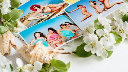 Photo album of girls on the journey