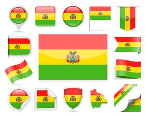 Bolivia Flag Vector Set