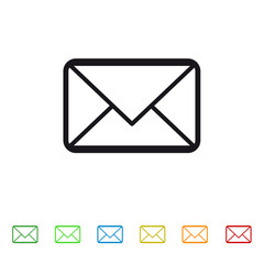 Message envelope icon for apps and websites