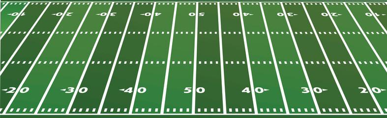 American football field. vector illustration