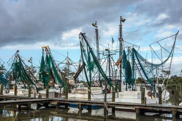 Shrimp Trawlers, Harkers Island, NC, USA
