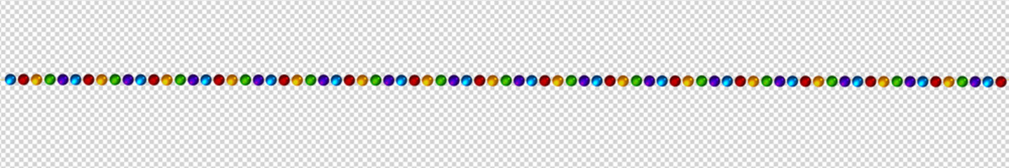 Vector realistic isolated beads necklace pattern for decoration and covering on the transparent background. Concept of jewelry and beauty.
