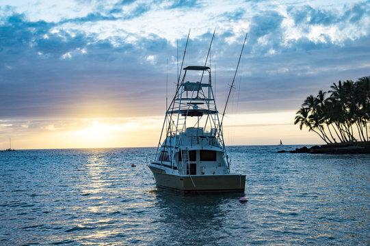 Sunset,Keauhou Bay Fishery Management Area ,Hawaii