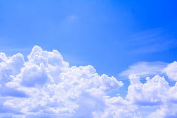 sky is bright and cloudy beautiful in summer