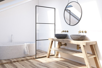 Modern bathroom corner