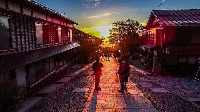 日本、中国地方、鳥取県、大山、伯耆富士、夕日、絶景