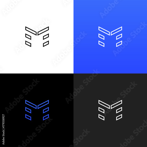 Logo M Linear Logo Of The Letter M For Companies And Brands With A