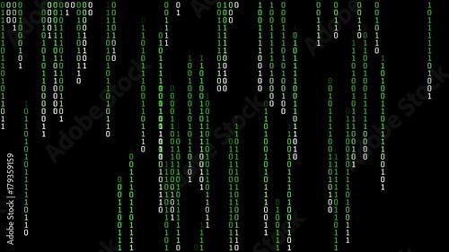 Binary Matrix Rain Loop  A Matrix style, futuristic and