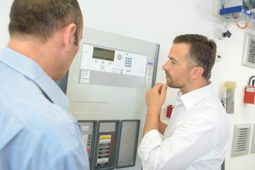 inspecting a complex machine