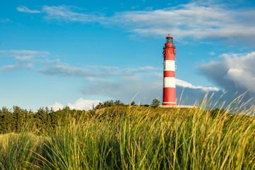 Fototapete - Leuchtturm in Wittdün auf der Insel Amrum