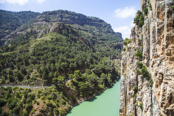 Chemin du roi en andalousie