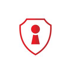 shield lock sign logo