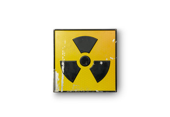 radioactive sign on yellow background