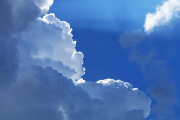 Beautiful Blue Sky with Clouds Weather Background Great for Any Use.