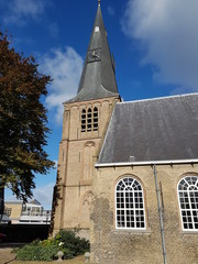 Old reformed church in the town of Zevenhuizen