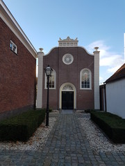 Old remonstrantic church in the center of Zevenhuizen, Netherlands