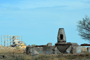 Abandoned Soviet military base in Central Asia