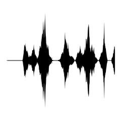 Audio equalizer record icon, simple black style