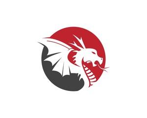 Dragon fly logo design template