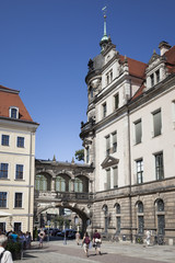 an archway between two buildings in Dresden Germany