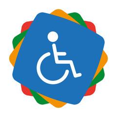 App Icon bunt - Rollstuhlfahrer