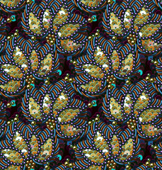 Sequins Seamless Pattern