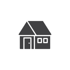 House icon vector, filled flat sign, solid pictogram isolated on white. Home real estate symbol, logo illustration