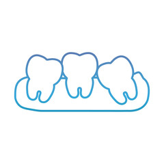 teeth icon over white background vector illustration
