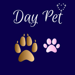 Vector illustration of International homeless animals day. Dog Cat Pet adoption. Day Pet.