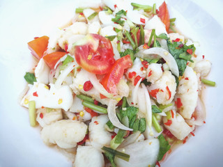 Steamed fish in lime dressing
