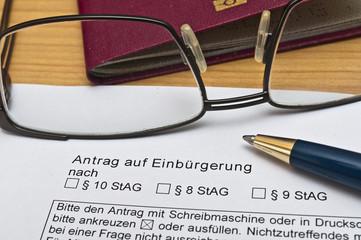 Antrag Einbürgerung BRD