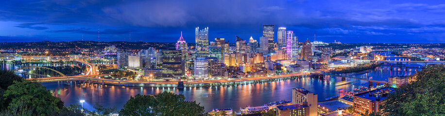 Wall Murals Dark blue Pittsburgh, Pennsylvania, USA