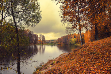Autumn landscape in the park.Moscow region,Russia