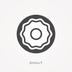 Silhouette icon donut