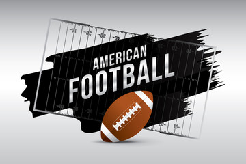 Vector of American football template background.