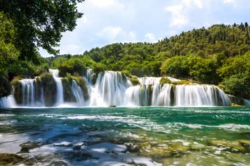 Skradinski buk Wasserfall im Krka Nationalpark in Kroatien