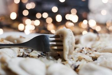 Christmas dumplings dinner