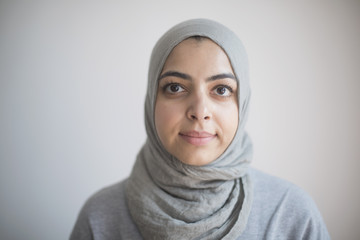 Portrait of a businesswoman wearing a hijab.