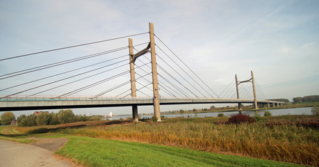 Bridge over river the IJssel in Kampen, The Netherlands