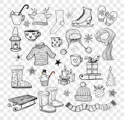 Doodle winter elements